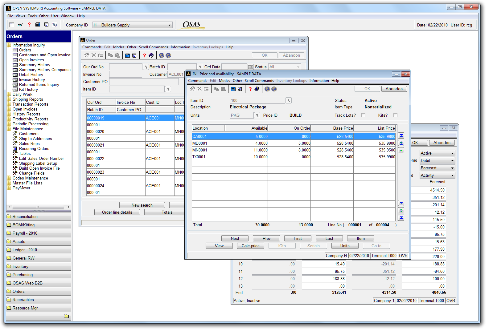 Open Systems Accounting Software Response Computer Group